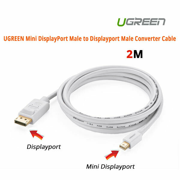 UGREEN Mini DisplayPort Male to Displayport Male Converter Cable (10408)