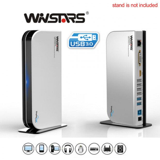 Winstars USB 3.0 Universal Dock (WS-UG39DK4) - Black
