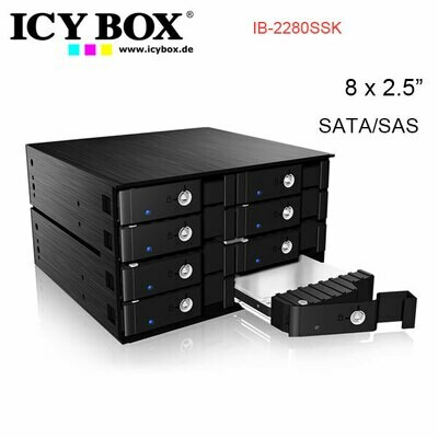 ICY BOX IB-2280SSK - Backplane for 8x 2.5