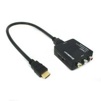 Simplecom CM401 Composite AV CVBS 3RCA to HDMI Video Converter 1080p Upscaling