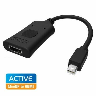 Simplecom DA101 Active MiniDP to HDMI Adapter 4K UHD (Thunderbolt and Eyefinity Compatible)