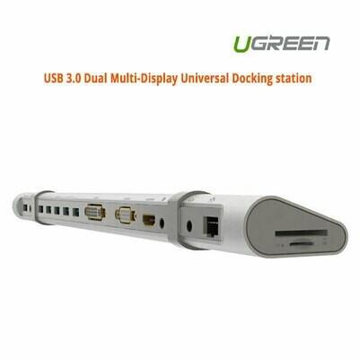 UGREEN USB 3.0 Dual Multi-Display Universal Docking station (40258)