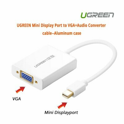UGREEN Mini Display Port to VGA+Audio Converter cable (10437)