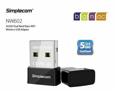 Simplecom NW602 AC600 Dual Band Nano USB WiFi Wireless Adapter