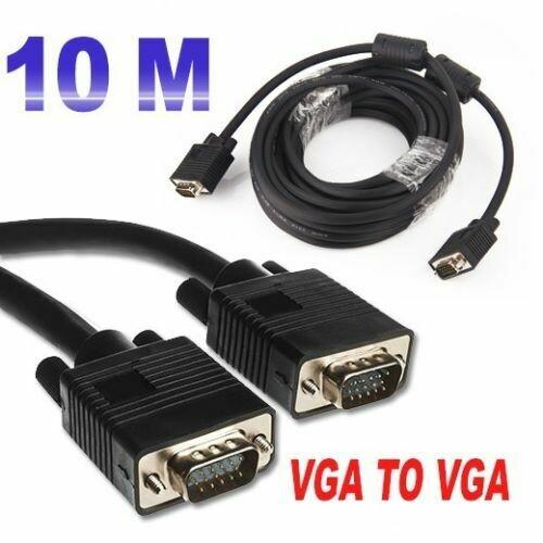 Ritmo 10M Premium VGA SVGA 15pin Monitor Cable Lead Male to Male PC TV Laptop LCD