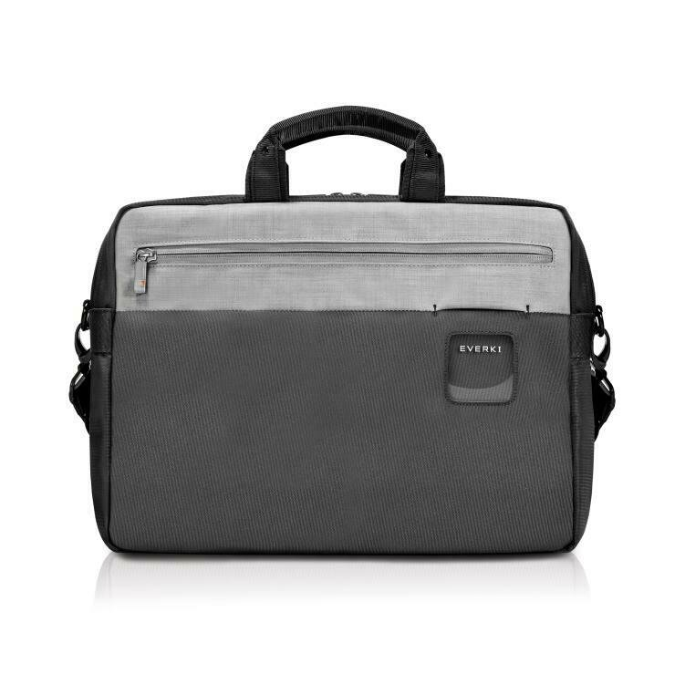 """Everki ContemPRO Commuter Laptop Bag Black Briefcase, up to 15.6"""" with Dedicated Tablet/iPad/Pro/Kindle compartment up to 13"""""""