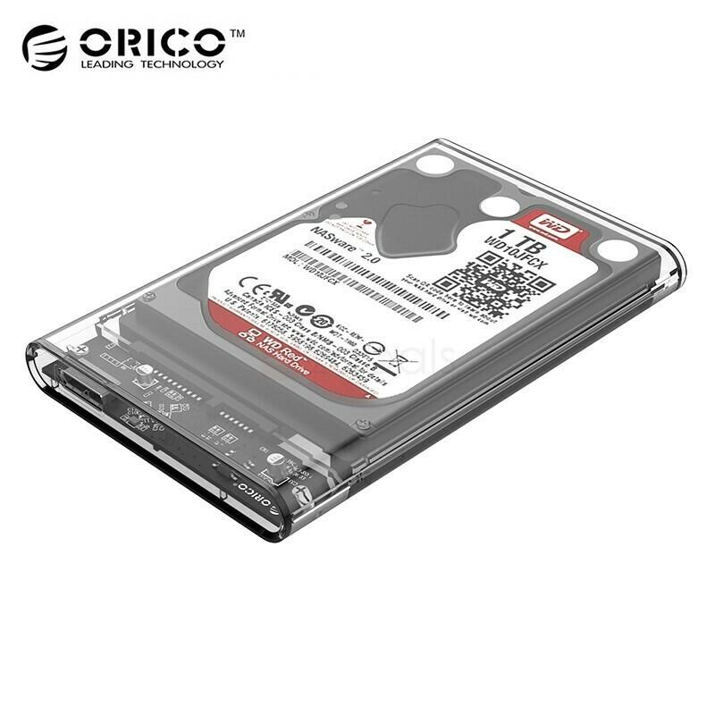 "ORICO 2.5"" USB3.0 EXT TRANSPARENT HDD CASE"