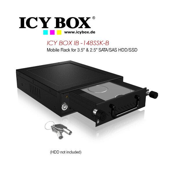 "ICY BOX Mobile Rack for 3.5"" & 2.5"" SATA/SAS HDD and SSD  (IB-148SSK-B)"