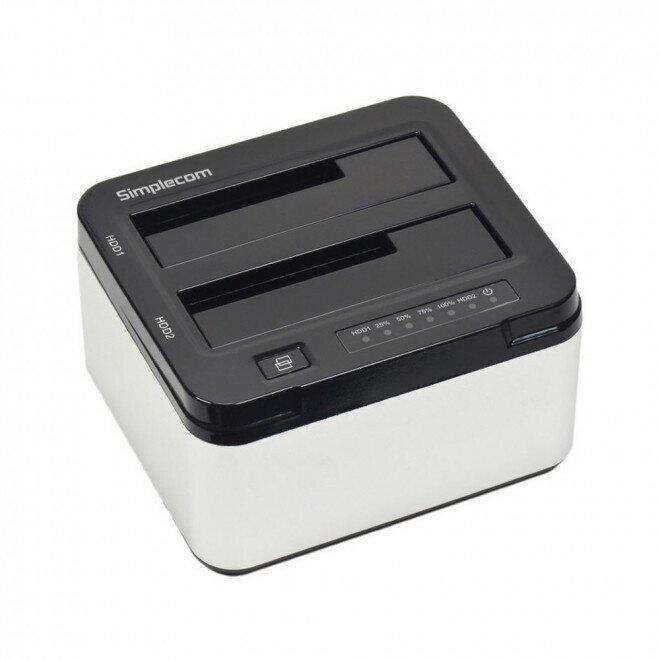 "Simplecom SD322 Dual Bay USB 3.0 Aluminium Docking Station for 2.5"" and 3.5"" SATA HDD Silver"