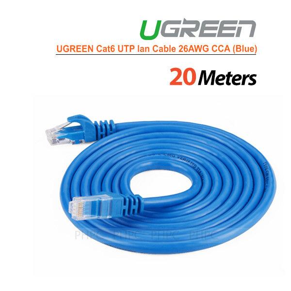 UGREEN Cat6 UTP lan cable blue color 26AWG CCA 20M (11206)
