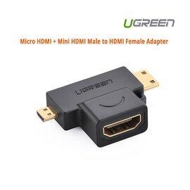 UGREEN Micro HDMI + Mini HDMI Male to HDMI Female Adapter (20144)