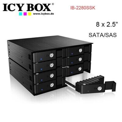 "ICY BOX IB-2280SSK - Backplane for 8x 2.5"" SATA/SAS HDD and SSD"