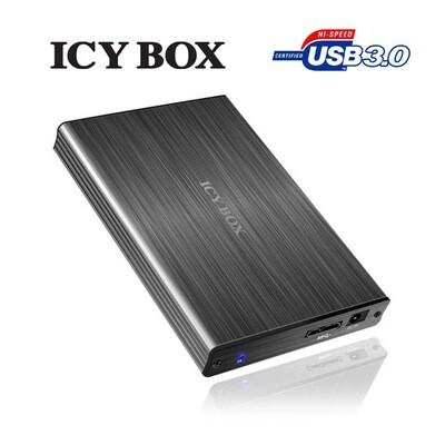"ICY BOX Particularly elegant aluminum enclosure with USB 3.0 for 2.5"" SATA HDDs  (IB-231StU3-G)"