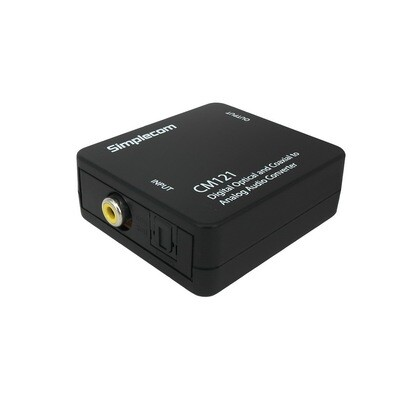 Simplecom CM121 Digital Optical Toslink and Coaxial to Analog RCA Audio Converter