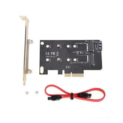 Simplecom EC412 Dual M.2 (B Key and M Key) to PCI-E x4 and SATA 6G Expansion Card