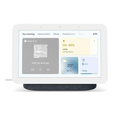 Google Nest 2 Hub HD Touch Smart Display & Home Assistant Charcoal GA01892-AU