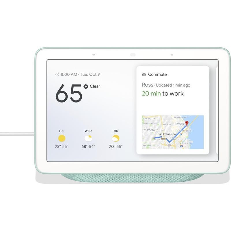Google Nest Hub HD Touch Smart Display & Home Assistant Aqua GA00578-AU