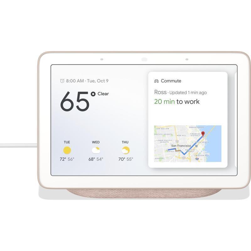 Google Nest Hub HD Touch Smart Display & Home Assistant Sand GA00517-AU