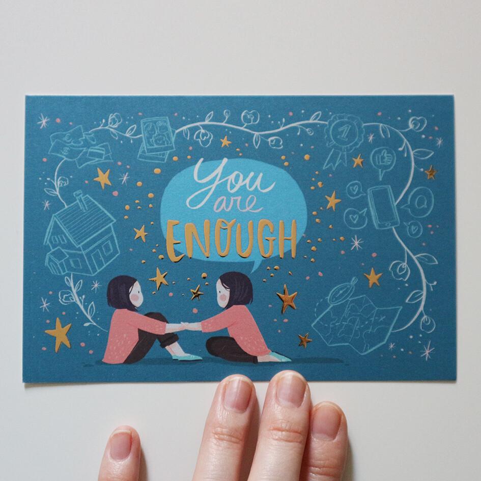 You are enough (postcard)