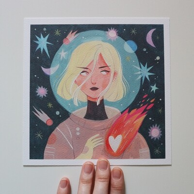 Astronaut mini Print