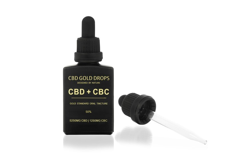 HEMP GOLD DROPS 50% CBD 5250mg + CBC 1250mg 30ml