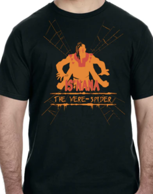 Is'nana the Were-Spider T-Shirt Designed by Walter Ostlie (only available in EXTRA SMALL)