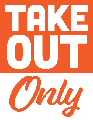 Take Out Orange Sign