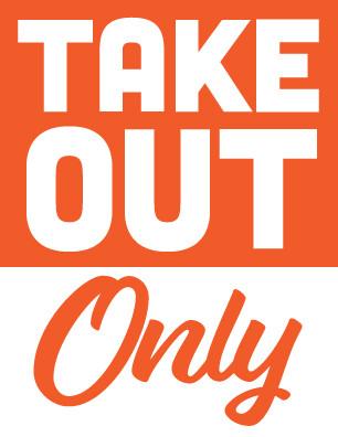 Take Out Orange Sign