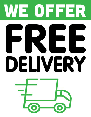 Free Delivery Sign