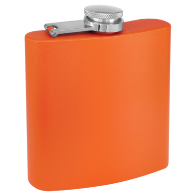6oz Flask - Powder Coated Stainless Steel (Assorted Colors)
