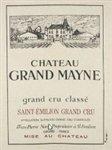 Chateau Grand Mayne, Saint-Emilion Grand Cru 2018 (750 ml)