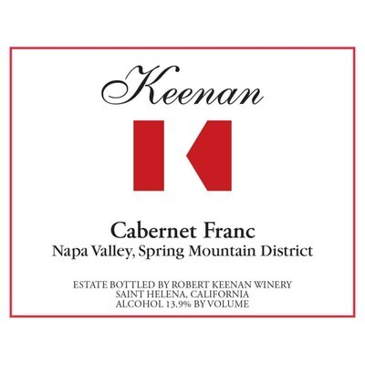 Keenan Cabernet Franc Spring Mountain District 2014 (750 ml)