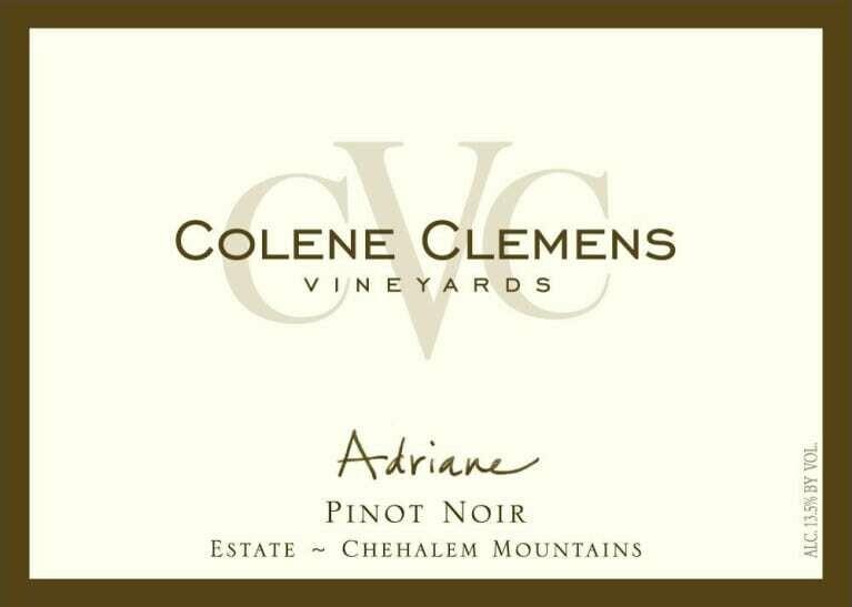 Colene Clemens Vineyards 'Adriane' Pinot Noir, Chehalem Mountains 2015 (750 ml)
