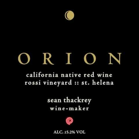 Thackrey & Company Orion Rossi Vineyard 'California Native Red Wine' Syrah, St Helena 2014 (750 ml)