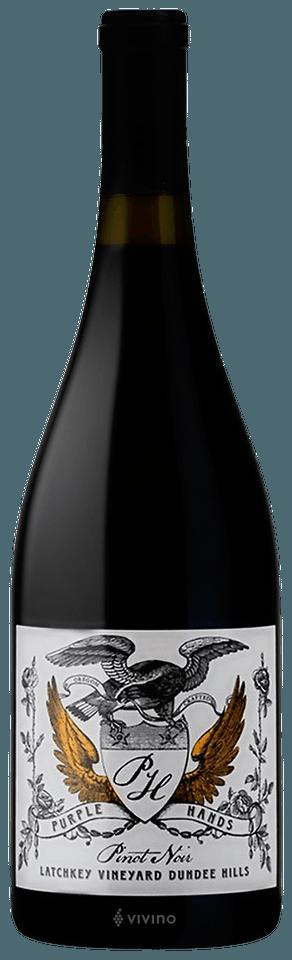 Purple Hands Latchkey Vineyard Pinot Noir 2018 (750 ml)