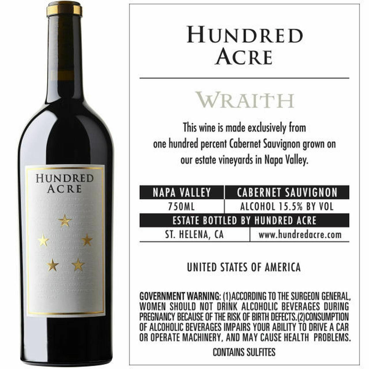 Hundred Acre 'Wraith' Cabernet Sauvignon, Napa Valley 2015 (750 ml)