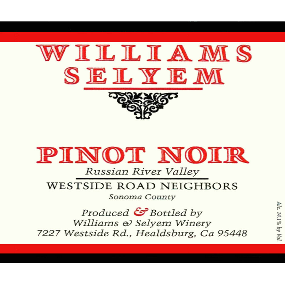Williams Selyem Westside Road Neighbors Pinot Noir 2018 (750 ml)