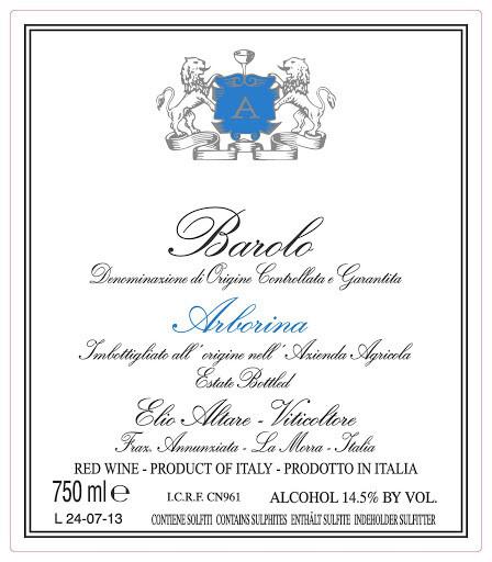 Elio Altare Barolo Arborina 2015 (750 ml)