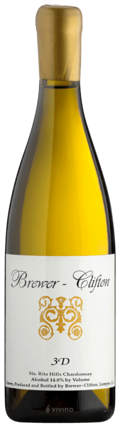 Brewer-Clifton Chardonnay 3-D 2017 (750 ml)