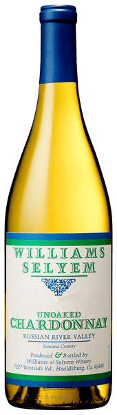 Williams Selyem Unoaked Chardonnay 2018 (750 ml)