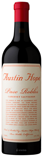 Austin Hope Cabernet Sauvignon 2018 (750 ml)