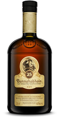 Bunnahabhain 25 Year Old Single Malt Scotch Whisky, Islay (750 ml)