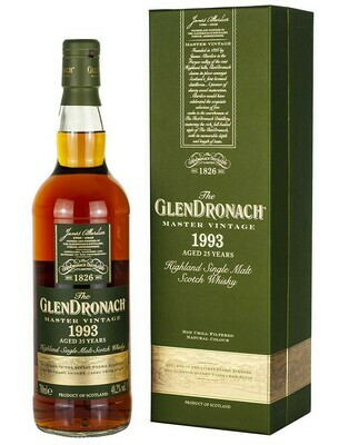 The Glendronach Scotch Single Malt 1993 Master Vintage 25 Year Single Cask (750 ml)