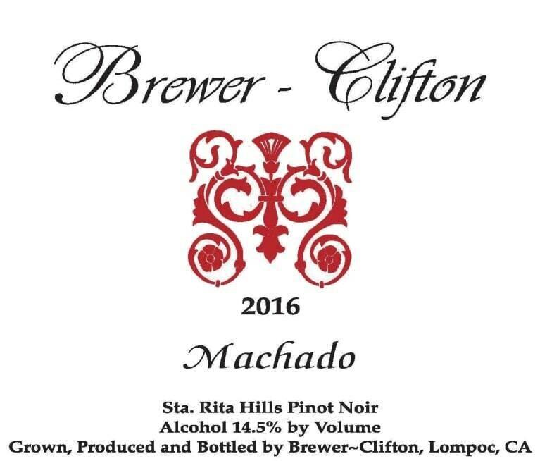 Brewer-Clifton Machado Pinot Noir Sta Rita Hills 2016 (750 ml)