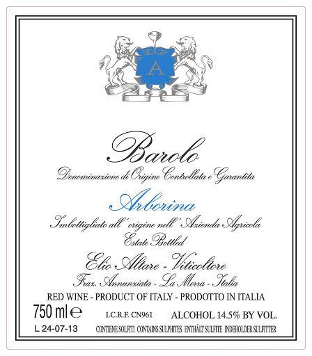 Elio Altare Barolo Arborina 2017 (750 ml)