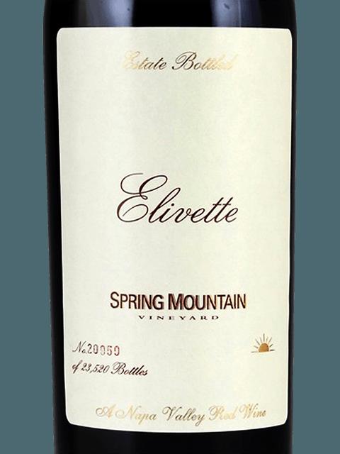 Spring Mountain Vineyard Elivette 2016 (750 ml)