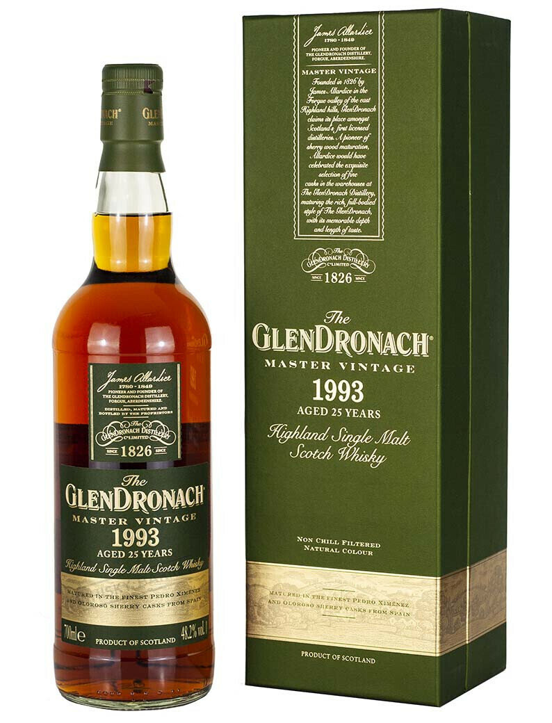 The Glendronach Scotch Single Malt 1993 Master Vintage 25 Year Single Cask (750 ml)