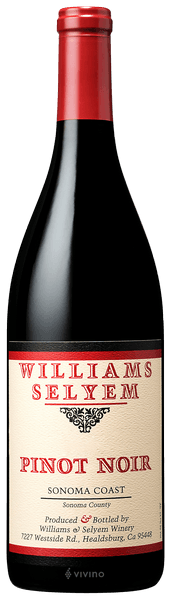Williams Selyem Sonoma Coast Pinot Noir 2019 (750 ml)