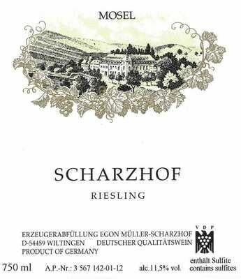 Egon Muller Scharzhof Riesling Mosel 2018 (750 ml)