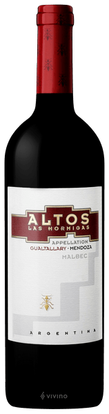 Altos Las Hormigas Malbec Appellation Gualtallary 2017 (750 ml)